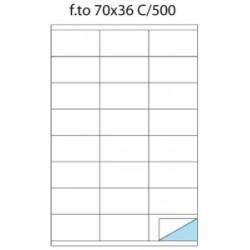 ETICH.ADESIVE -A4- Copy Laser POOL OVER -C500- 70x36  Con Margine