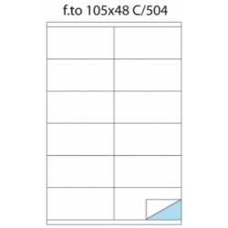 ETICH.ADESIVE -A4- Copy Laser POOL OVER -C504- 105x48  Con Margine