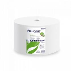 IGIENE.pulizia STROFINACCIO ROTOLO Lucart 2Veli 500mt fibra rigenerata -VERDE -851201-