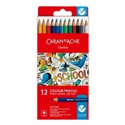 PASTELLI LEGNO CARAN d ACHE School Line ACQUERELLABILI - 6 colori