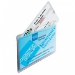 PORTA CARD 3 strati 8,5x5,4 a 2tasche trasp. conf50pz  -7830-