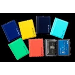 PORTA CARTE MAGNETICHE ALTAIR  PVC  rigido 8 ante  COLORATO ( protezione Campi magnetici - NFC-RFID)