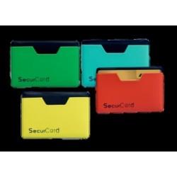 PORTA CARTE MAGNETICHE PEGASUS  PVC  morbido 2 ante  COLORATO (protezione Campi magnetici - NFC-RFID)