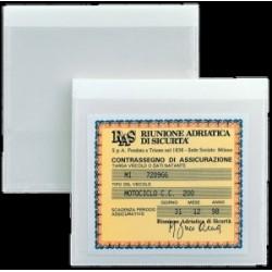 PORTA ETICHETTE ADESIVO PVC -TASCA CA - 85x80 conf.100pz (ASSICURAZIONE)