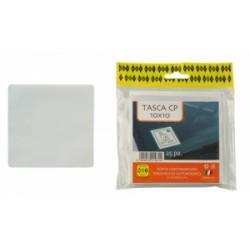 PORTA ETICHETTE ADESIVO PP -TASCA CP - 100x100 conf.25pz (ECOPASS)