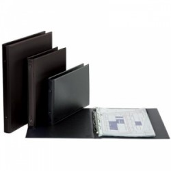 PORTA LISTINO 4ANELLI  35x50 d.30  PVC NERO