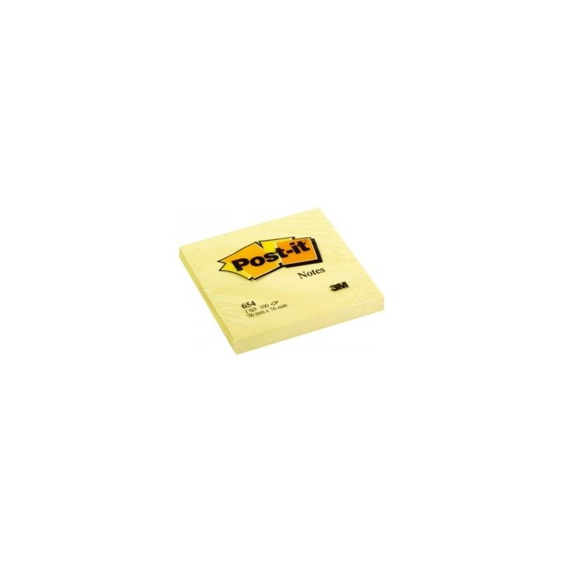 BLOCCO Post-It  NOTES -654- CLASSICO 76x76 conf.12pz - GIALLO
