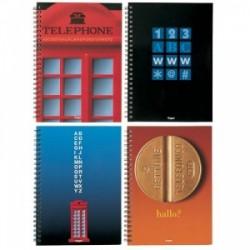 RUBRICA 10x15 -GETTONE TELEFONICO-  SPIRALATA 2pz. 3890