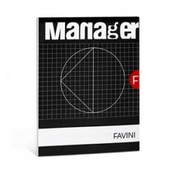 BLOCCO NOTES Manager FAVINI 23x29,7 spiralato 80ff    rigatura 10mm  ***