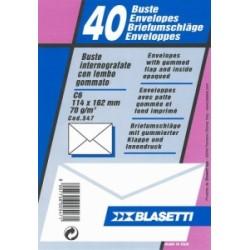 BUSTA COMMERCIALE 114x162  C6 70gr 12 blister  40pz (547)