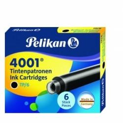 CARTUCCE STILO  PELIKAN  TP/6  INCHIOSTRO 4001 -  NERO