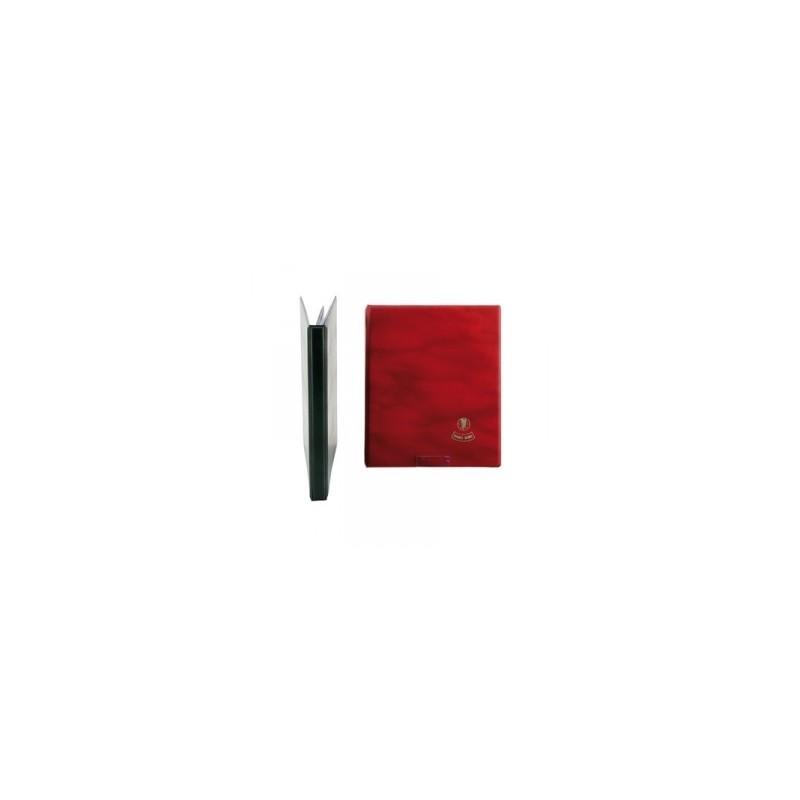 CLASSIFICATORE PORTAMONETE 18x24 6ff - ROSSO