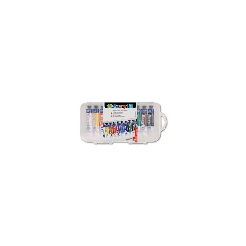 COLORI TEMPERA -CMP- ACRILICO  IN TUBETTO 18ml - conf.10 colori   -405TA10SP-