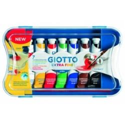 COLORI TEMPERA GIOTTO Tubo-4  12ml  scatola 7 colori .303100