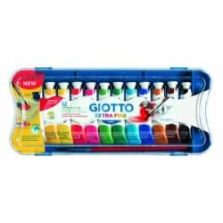 COLORI TEMPERA GIOTTO Tubo-4  12ml  scatola 12colori .304100