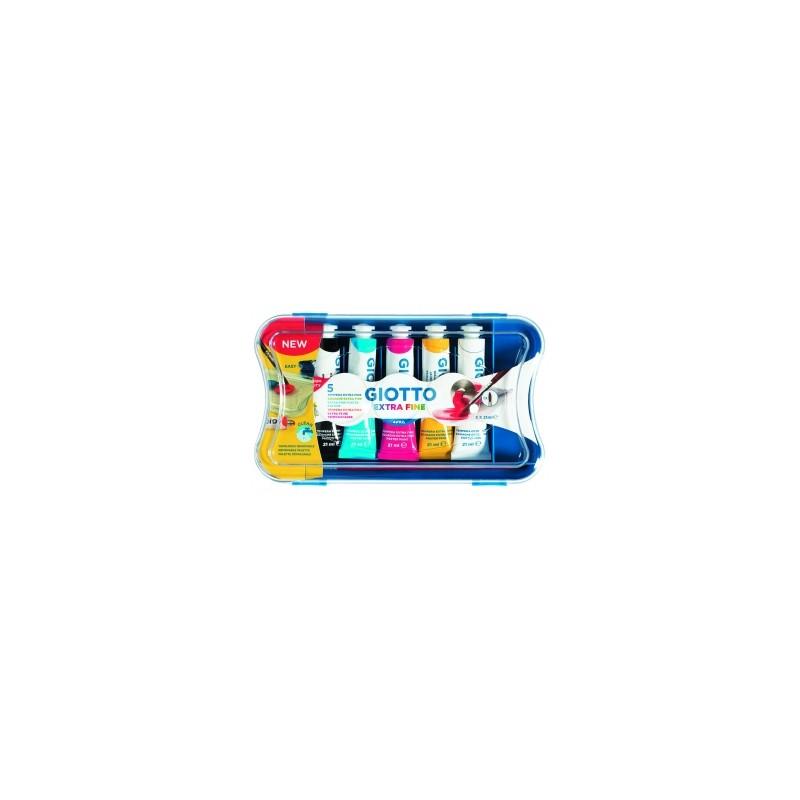 COLORI TEMPERA GIOTTO Tubo-7 scatola da 5 colori PRIMARI .327100