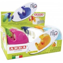 DISPENSER NASTRO ADESIVO 33mt x19mm  Arda -C1347TL- COLORI ASSORTITI (Nastro Incluso)