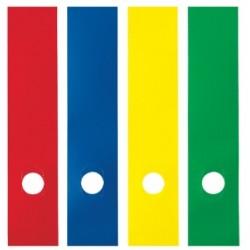 ETICH.ADESIVE DORSALI REGISTRATORI in PVC conf.10pz - GIALLO