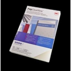 FASCICOLAZIONE- COPERTINE PolyClear 350mic TRASP.OPACO  100pz