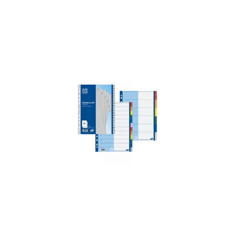 INTERCALARI A4 PLASTICA  A/Z ARCHIVIA Pool Over rubricato art.103 GRIGIO     -97046-