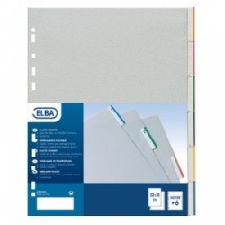 INTERCALARI A4 PLASTICA  NEUTRI 12tacche CARTONCINI COLOR  -400006688-