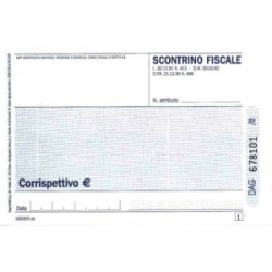 MODULISTICA Fiscale  BLOCCO SCONTRINO 10x16 AREE PUBBLICHE 100/100 autoricalcante (DU1633CN000)