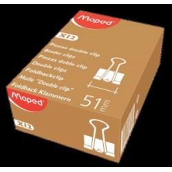 MOLLE FERMACARTE DOUBLE CLIPS 51mm -N5-  conf.12pz