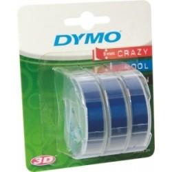 NASTRI x ETICHETT DYMO mm9x3mt  -3D- blister 3pz  - BLU
