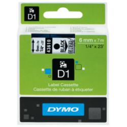 NASTRI Dymo -D1- LABELPOINT 12mm x 7mt  -45013-10  NERO-KRISTALL