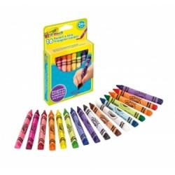 PASTELLI CERA Crayola MAXI TRIANGOLARI LAVABILI conf.16pz .52-0165