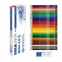 PASTELLI LEGNO TintaUnita MINA 4.0 conf.12pz -  BLU OLTREMARE .41465