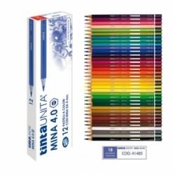 PASTELLI LEGNO TintaUnita MINA 4.0 conf.12pz -  BLU COBALTO .41485