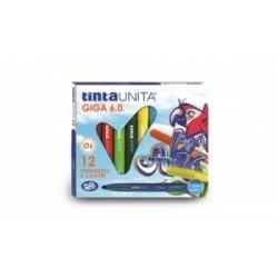 PENNARELLI DISEGNO TintaUnita GIGA 6.0 12 colori .41822