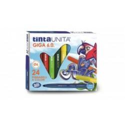 PENNARELLI DISEGNO TintaUnita GIGA 6.0 24 colori .41823