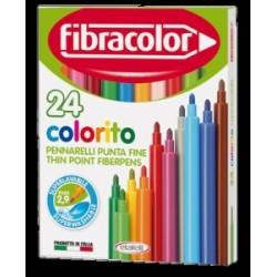 PENNARELLI DISEGNO Fibracolor COLORITO PUNTA FINE conf.24 colori