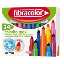 PENNARELLI DISEGNO Fibracolor COLORITO PUNTA MAXI conf.24 colori