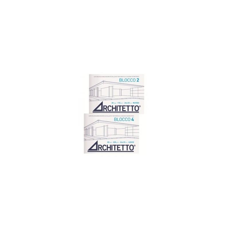 ALBUM ARCHITETTO-2 blocco  24x33 20fg RUVIDO  master-50/2250