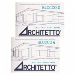 ALBUM ARCHITETTO-4 blocco  24x33 20fg SQUADRATO  master-20/1260