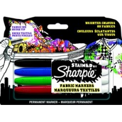 PENNARELLI PER TESSUTI Sharpie STAINED blister 4 colori   -S0962141-