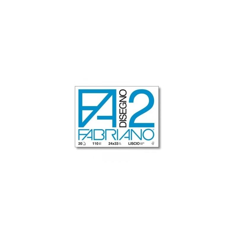 ALBUM FABRIANO F2 c/angoli 24x33 20fg  110gr  - LISCIO