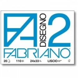 ALBUM FABRIANO F2 collato  33x48 12fg LISCIO 110gr