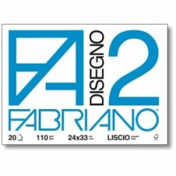 ALBUM FABRIANO F2 collato  33x48 12fg RUVIDO 110gr
