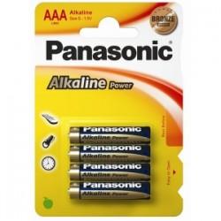 PILE Panasonic ALKALINE POWER- MINI STILO blis.4pz  -AAA-