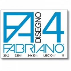 ALBUM FABRIANO F4 c/angoli 24x33 20fg LISCIO  220gr.
