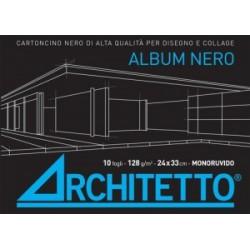 ALBUM ARCHITETTO FOGLI NERI  -F3-  24x33 10fg  strappo