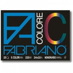 ALBUM FABRIANO F4 COLORE  c/angoli  24x33 25fg  220gr