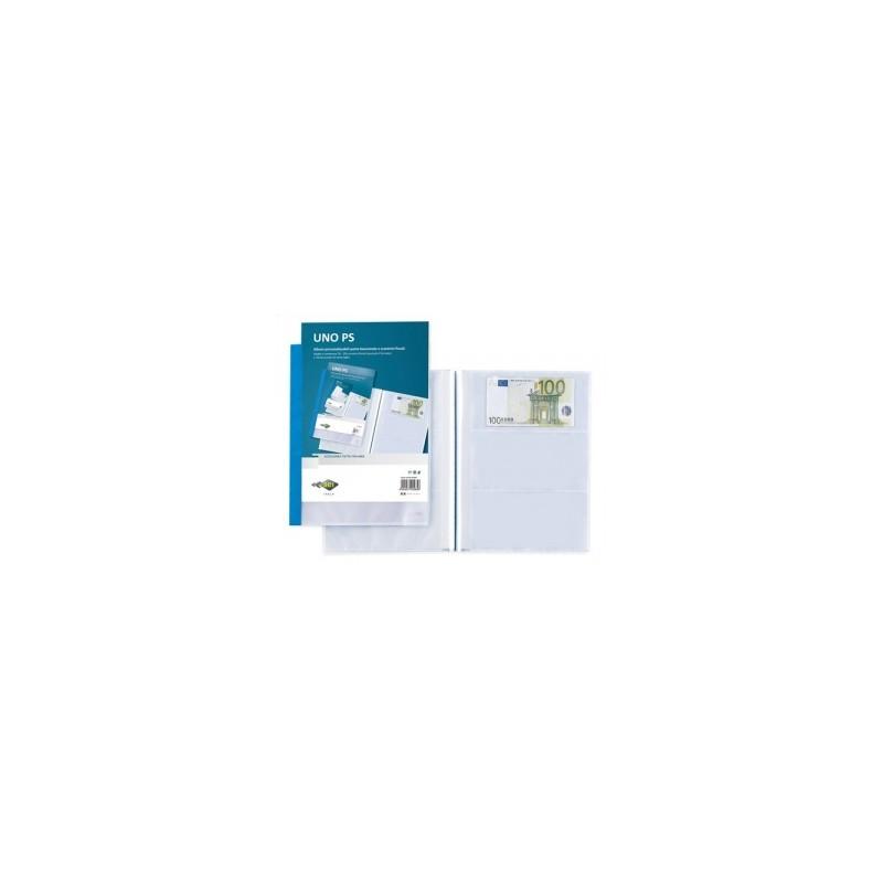 PORTA LISTINO UnoPS -A4-  dorso BLU - PORTA SCONTRINO FISCALE E BANCONOTE  -654467-