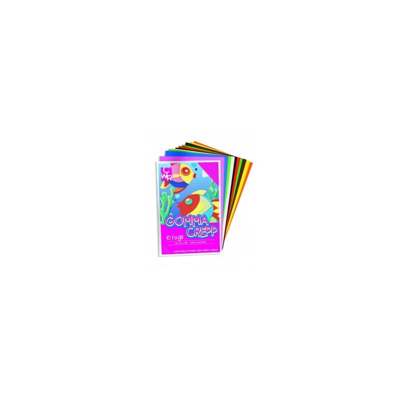 ALBUM GOMMA CREPP 22x33  -04754-  10ff  - COLORI ASSORTITI