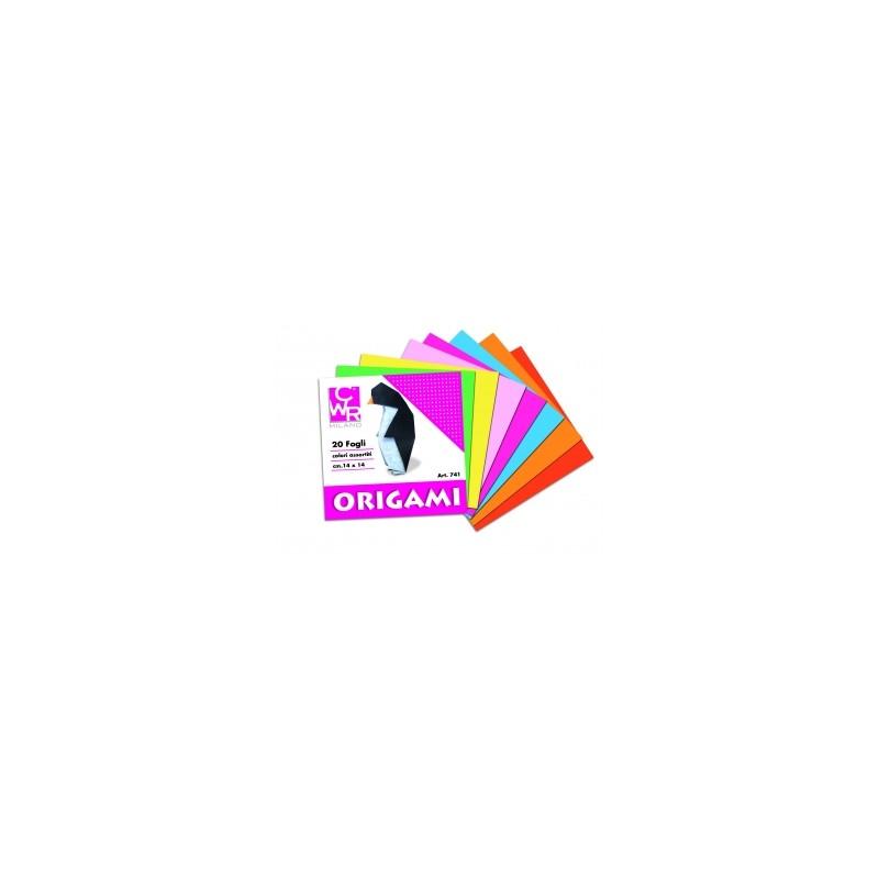 ALBUM ORIGAMI 14x14 20ff col.assortiti  conf.25pz  -741-