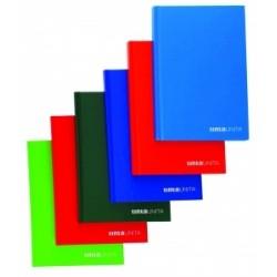 QUADERNI CARTONATI  TintaUnita 80fg 80gr FILO REFE - 9 colori 5mm  -98298-